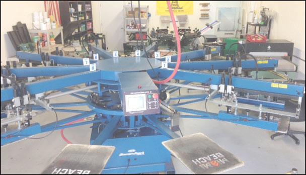 screen printing shop