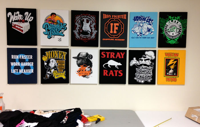 t-shirt-wall-display